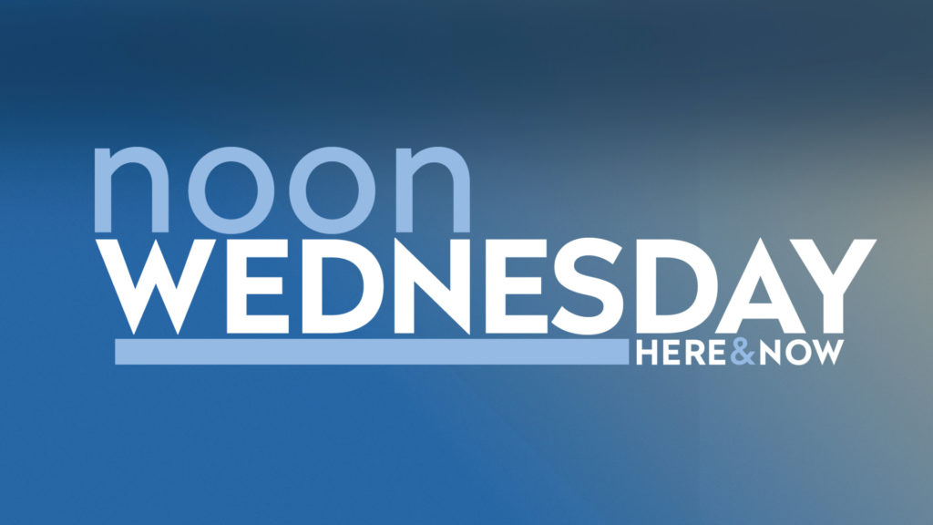 Logo for Here & Now's Noon Wednesday