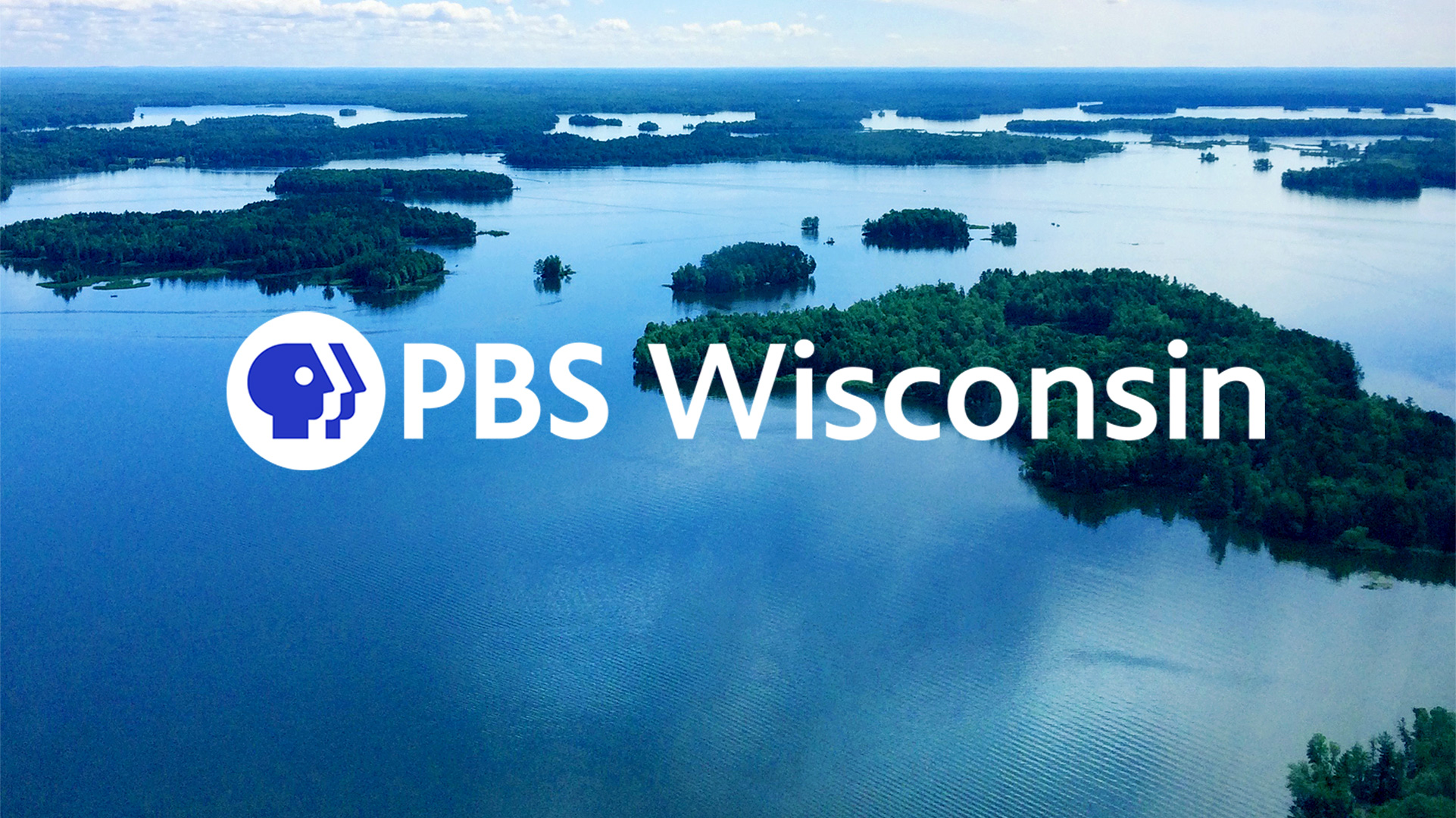 PBS Wisconsin logo over still image from Wisconsin Water from the Air.