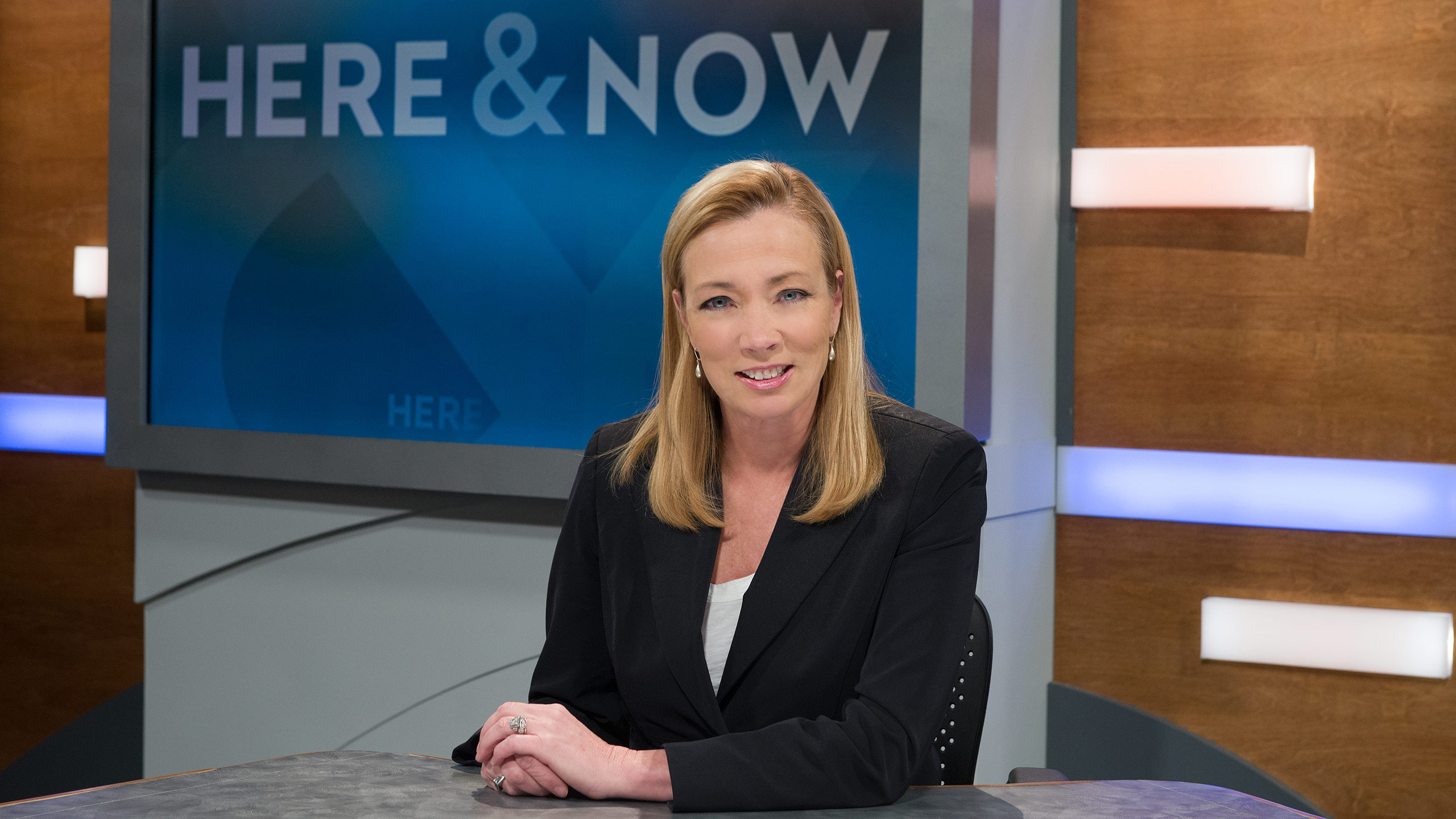 Here & Now anchor Frederica Freyberg,