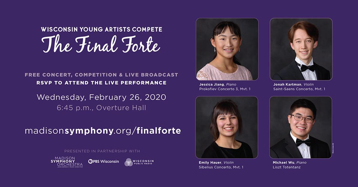 Pictures of the participants in The Final Forte 2020