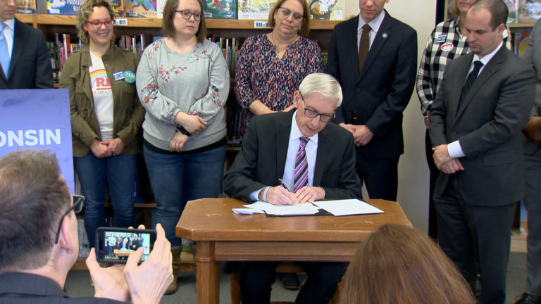 Gov. Tony Evers vetoes a Republican tax cut.