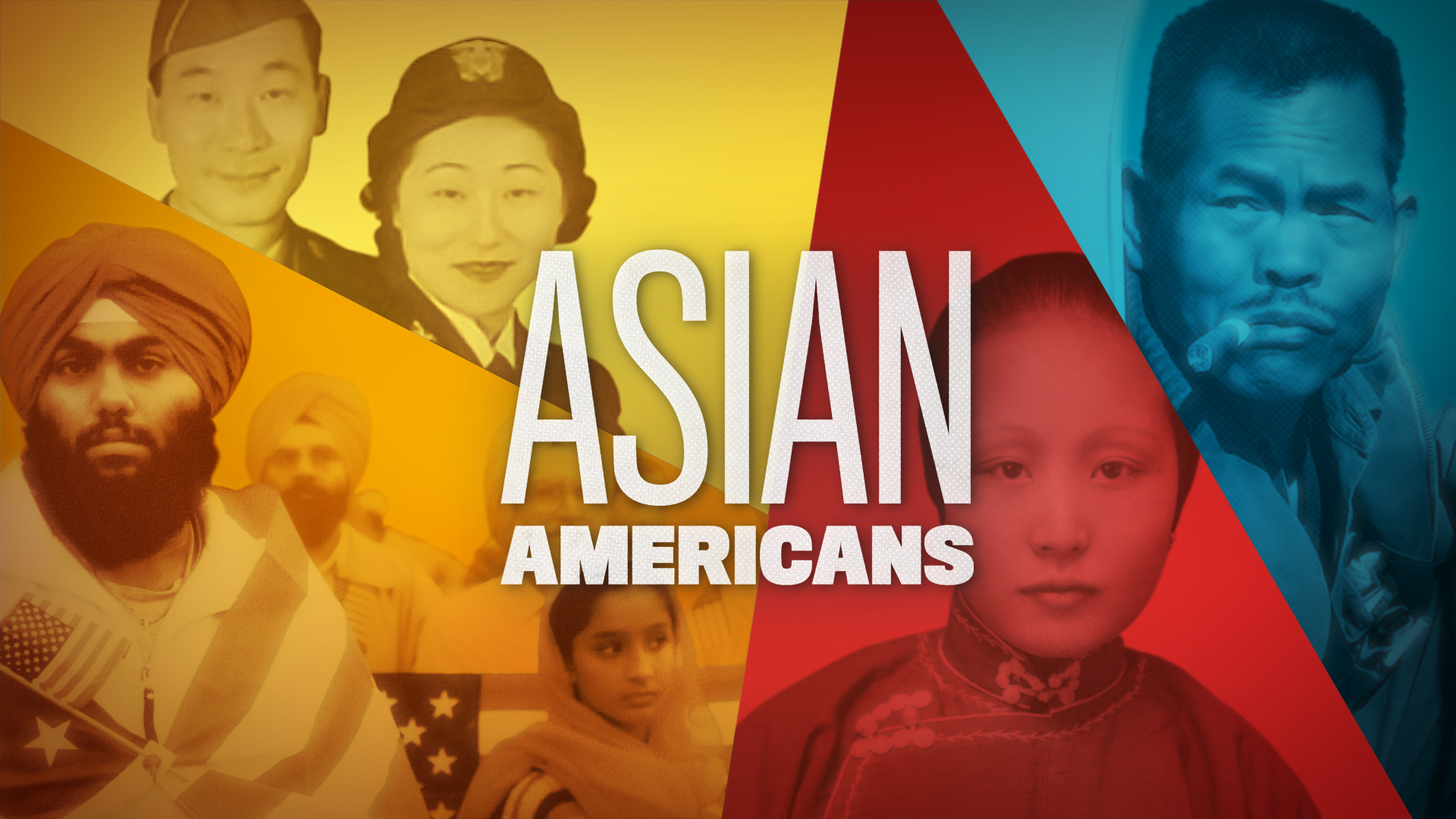 A collage of photographs depicting the diversity of Asian Americans and Pacific Islanders