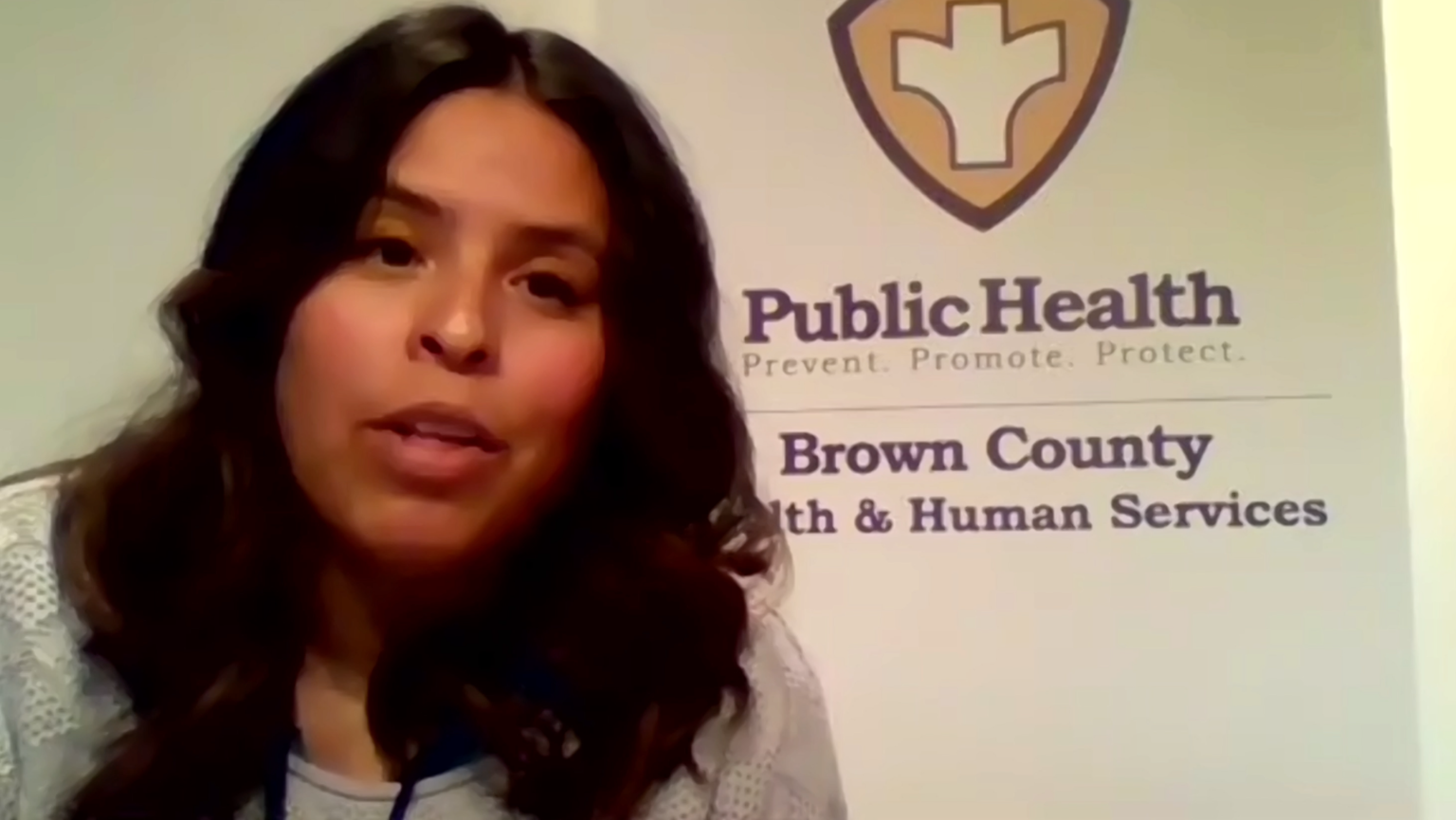 Claire Paprocki, a Brown County public health strategist, says we're trying to be all on the same team and attack this from the same angle, as the county faces an outbreak of COVID-19 cases in meat packing plants.
