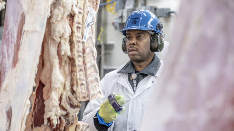USDA meat inspector