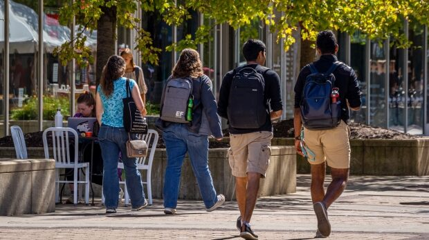 Students walking on UW-Madison campus