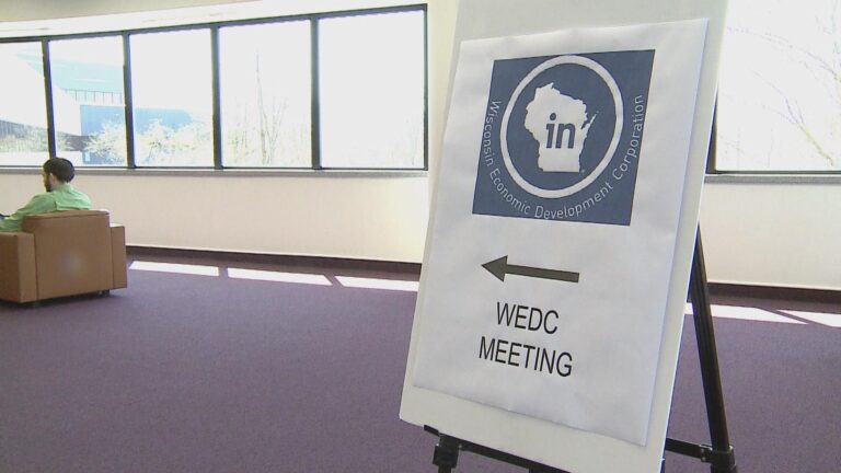 WEDC sign.