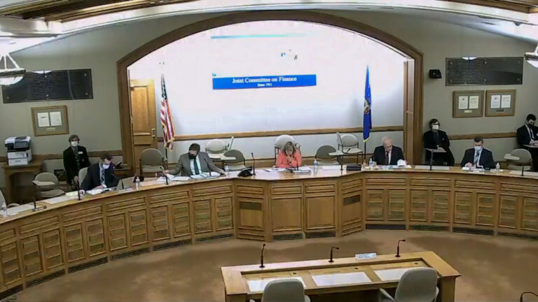 The Legislature's Joint Committee on Review of Administrative Rules meets to discuss the state's 25% capacity limit Oct. 12, 2020. (Courtesy: WisEye)