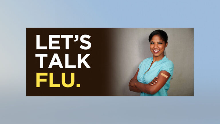 Flu vaccine promotional image