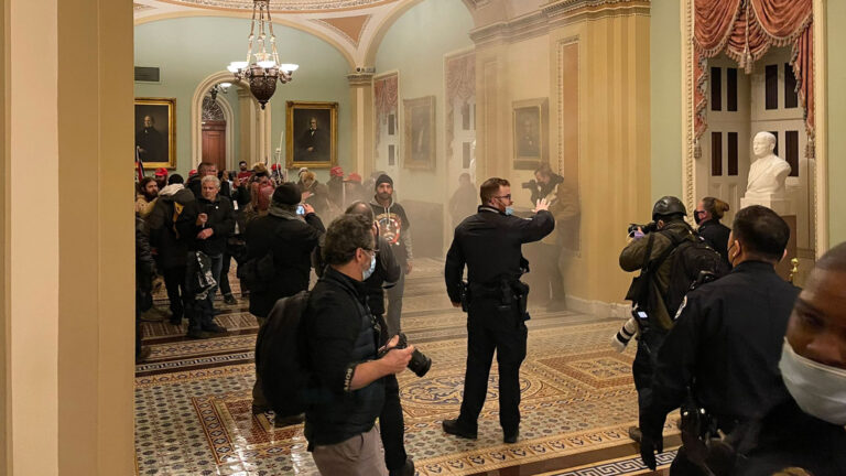Crowd outside US Senate