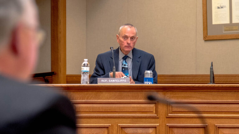 State Rep. Joe Sanfelippo, R-New Berlin, participates in an legislative committee hearing at the Wisconsin Capitol.
