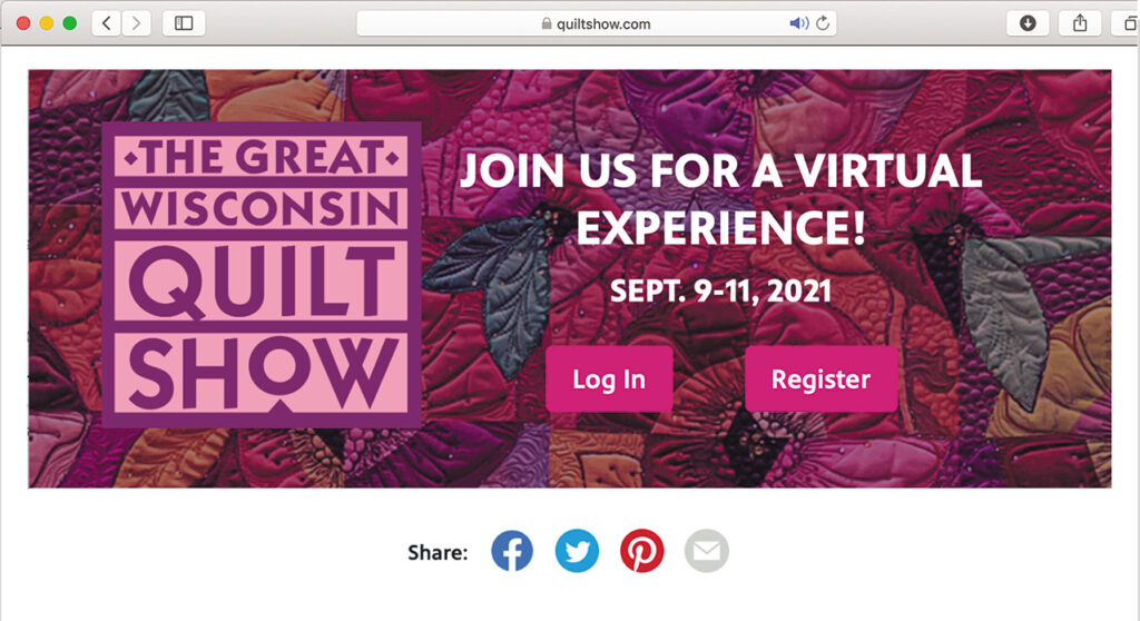 The home page of quiltshow.com